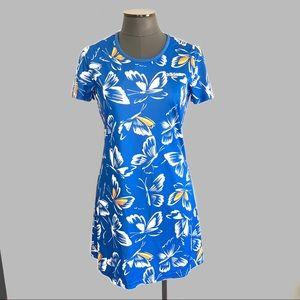 Adidas x Farm Rio Blue Butterfly Athletic Dress